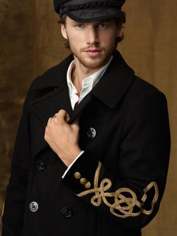 ... Leisure Ralph Lauren Men Polo Officer Jacket Black