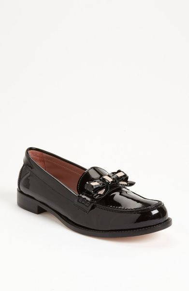 Red Valentino Patent Loafer in Black (black/ pink)