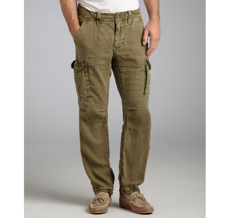 Mens Brown Linen Pants