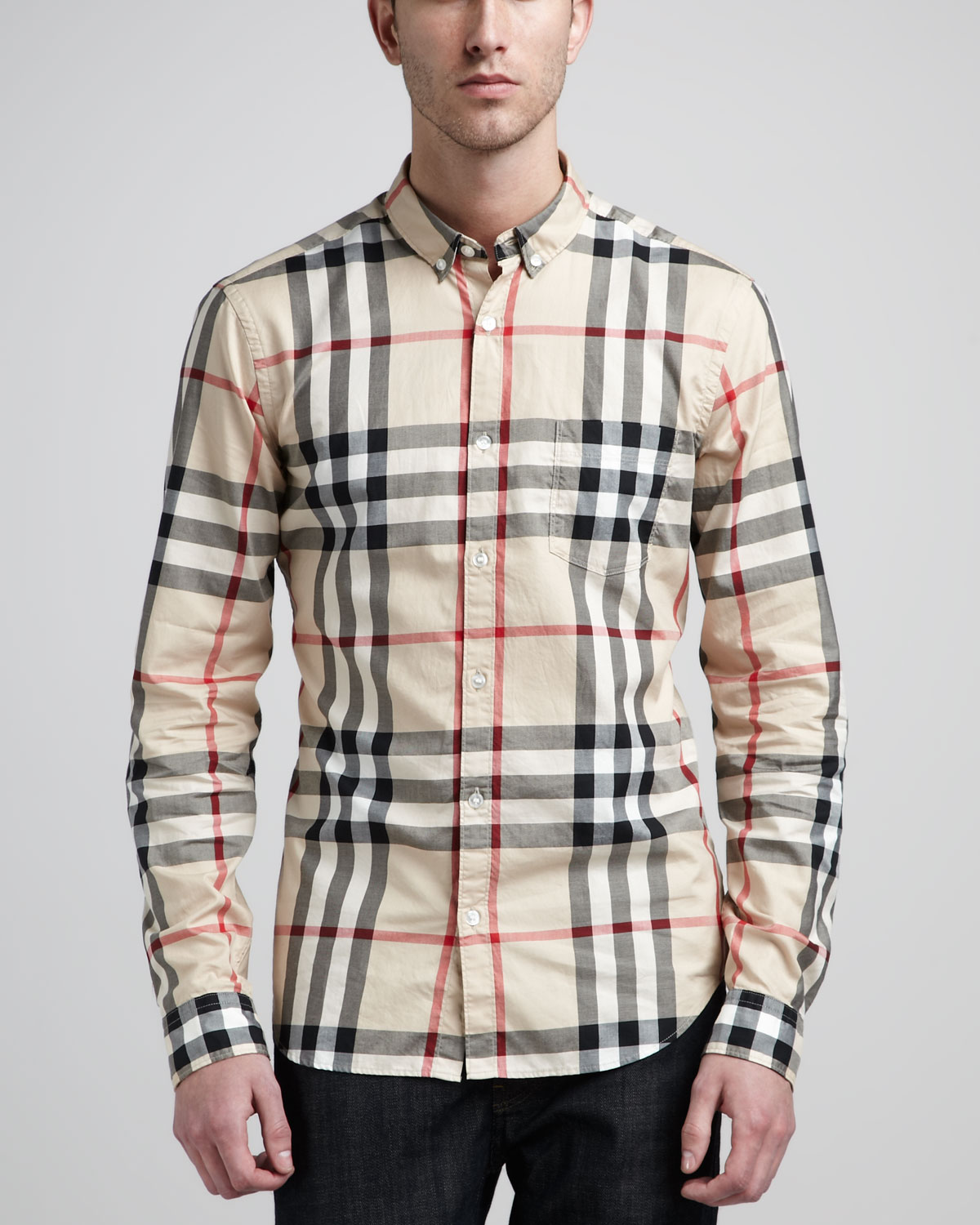buberry outlet e4z6  burberry brit shirt for men