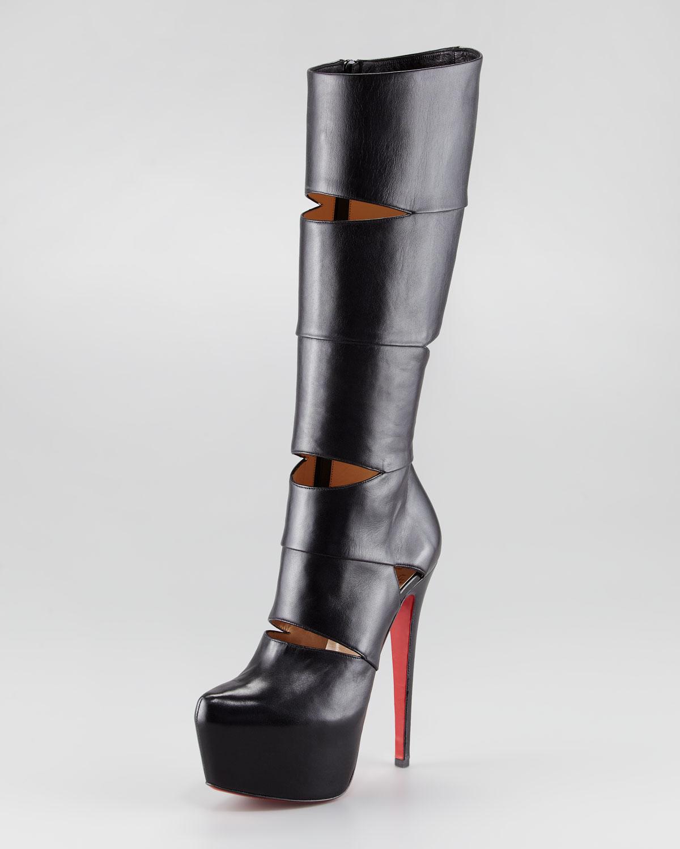 4160a7c1447 ... france lyst christian louboutin bandita leather red sole boot in black  fa9d4 a42da