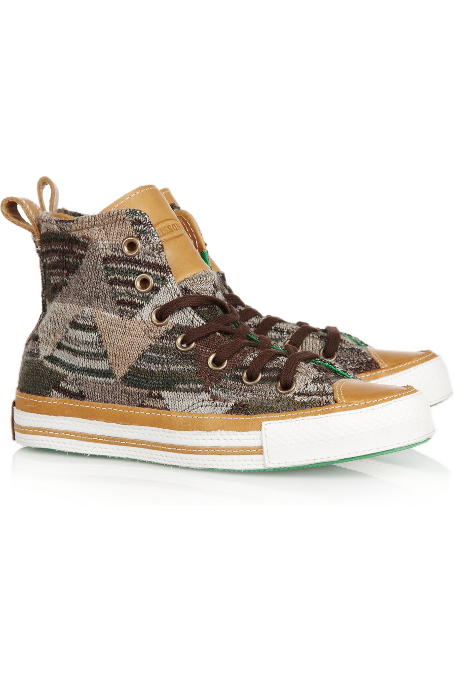 Lyst Converse Knitted Hightop Sneakers In Brown