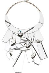 Erickson Beamon Who Are You Mirrored Abstract Bib Necklace