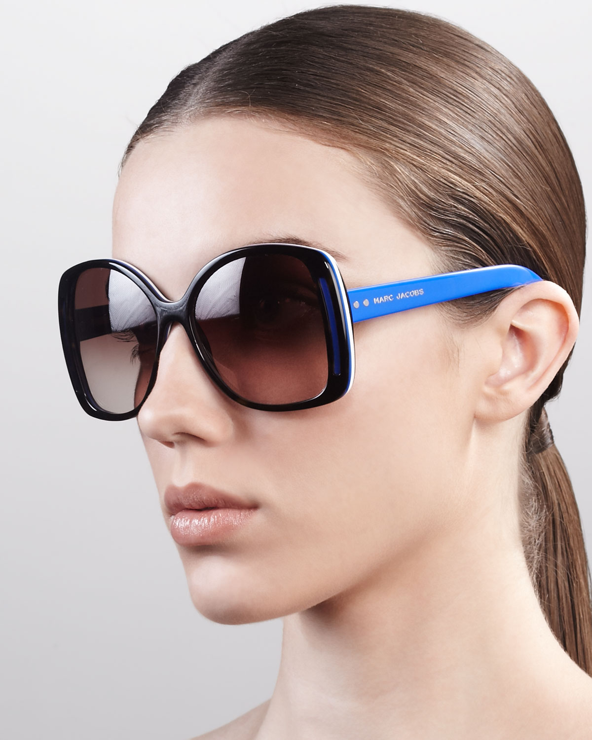 Oversized Oval Sunglasses  marc jacobs oversized oval sunglasses in blue lyst