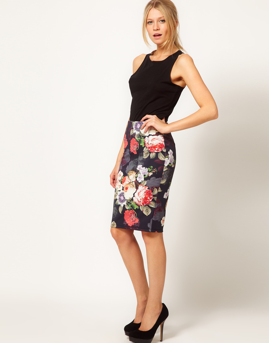 Floral Pencil Skirt | Gommap Blog