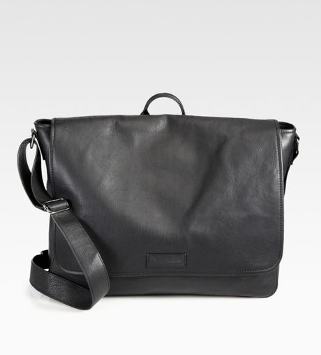 Robert Graham Roth Leather Messenger Bag in Black for Men