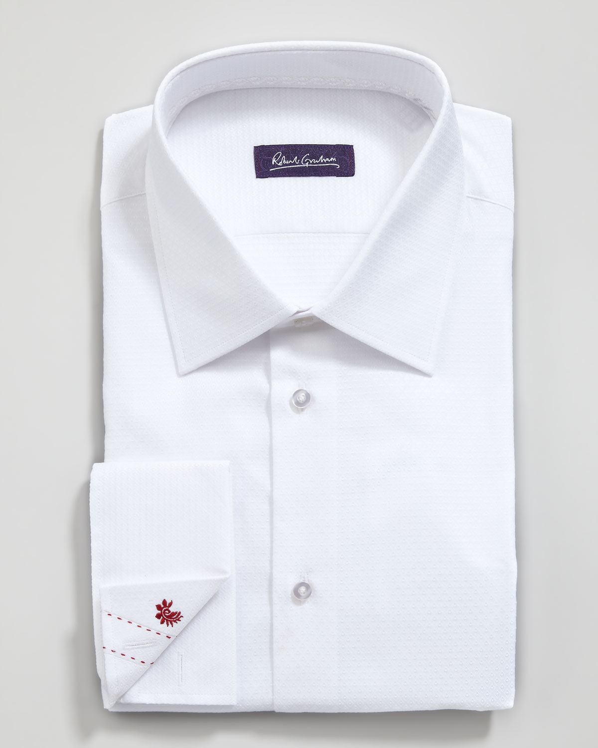 robert graham simon textured french cuff dress shirt in