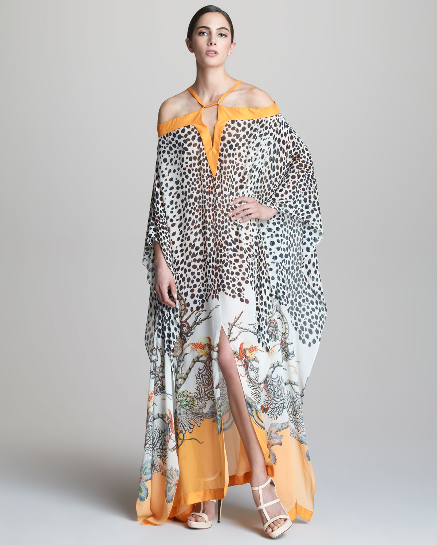 Modern Kaftan Dresses For Woman Anneyep Printed Flowers Muslim Maxi Dress