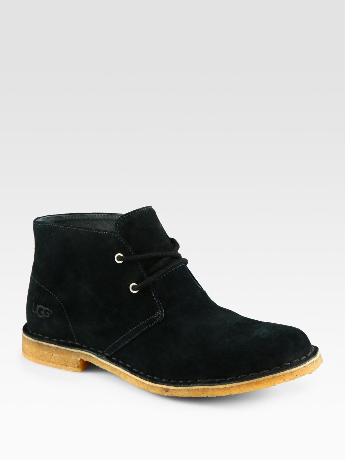 ugg leighton chukka boot in black for lyst