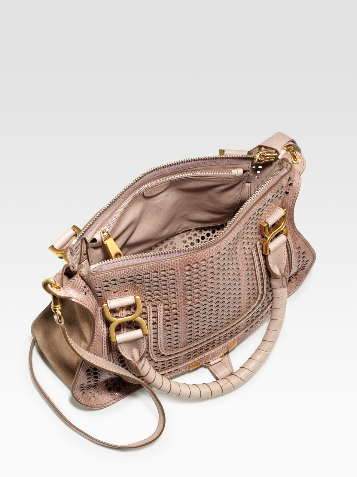 Lyst Chlo 233 Marcie Perforated Snake Embossed Leather