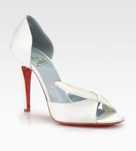 Bridal Shoes Saks: Christian Louboutin Livrée Satin Bridal Pump In White