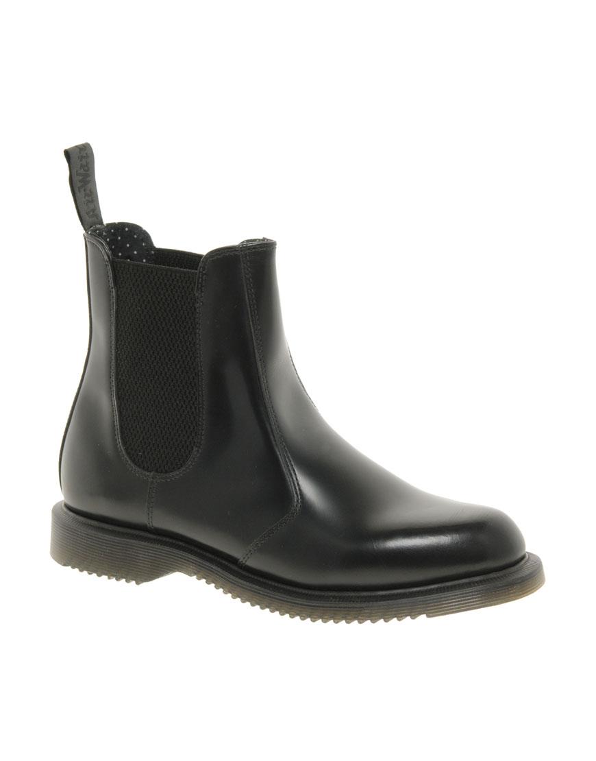 dr martens kensington flora black chelsea boots in black save 54 lyst. Black Bedroom Furniture Sets. Home Design Ideas
