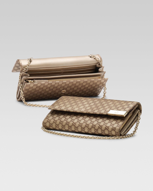 689a805b0f7610 Gucci Microguccissima Chain Wallet in Brown - Lyst