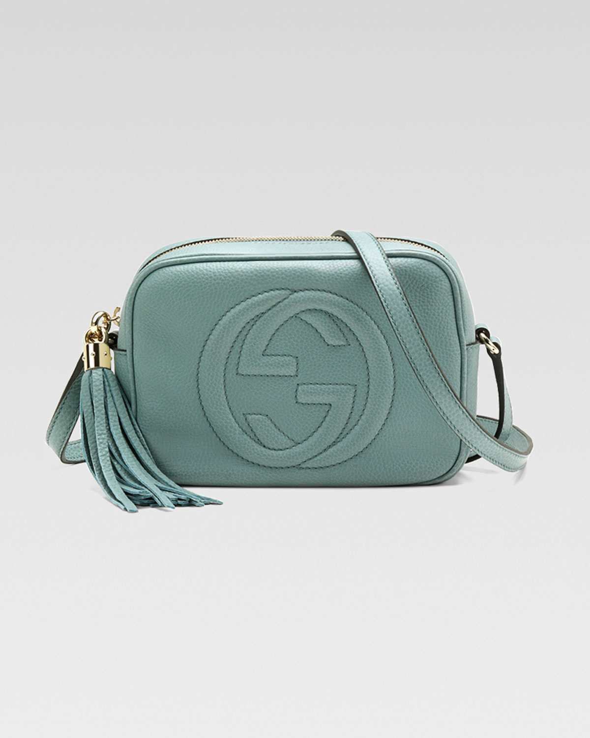 1862d5265f94 Gucci Soho Leather Disco Bag Pool Water in Green - Lyst