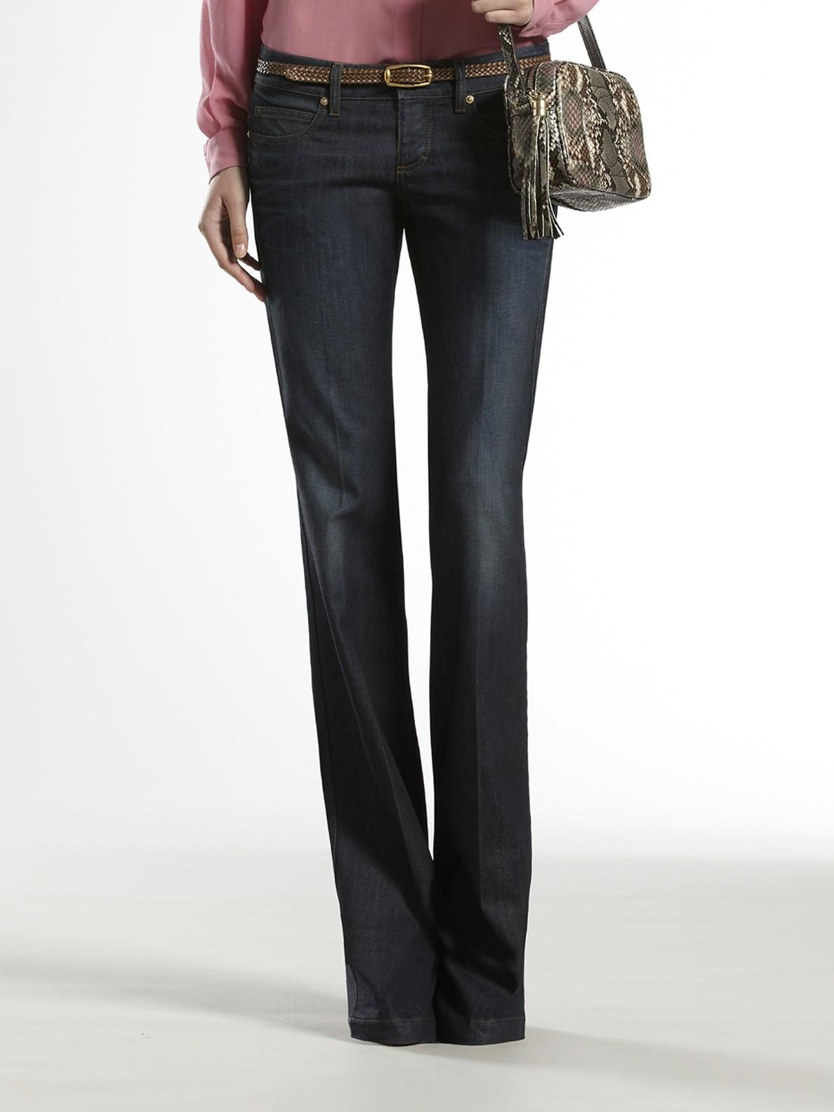 gucci embroidered five pocket jeans in blue lyst. Black Bedroom Furniture Sets. Home Design Ideas