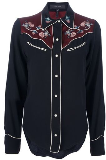 Isabel Marant Embroidered Western Shirt - Lyst