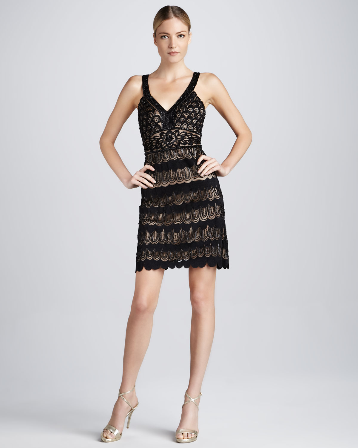 637f6e62cffe0 Gallery. Previously sold at  Neiman Marcus · Women s Black Lace Cocktail  Dresses ...