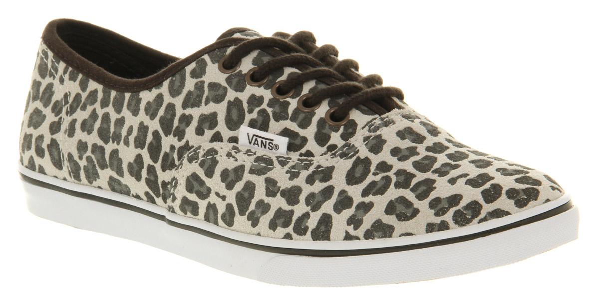 9f6ba0dbdaf Lyst - Vans Authentic Lo Pro Leopard Suede Grey