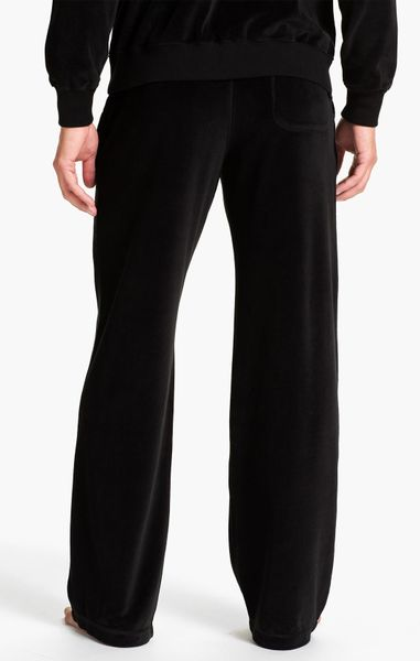 Daniel Buchler Velour Lounge Pants In Black For Men Lyst