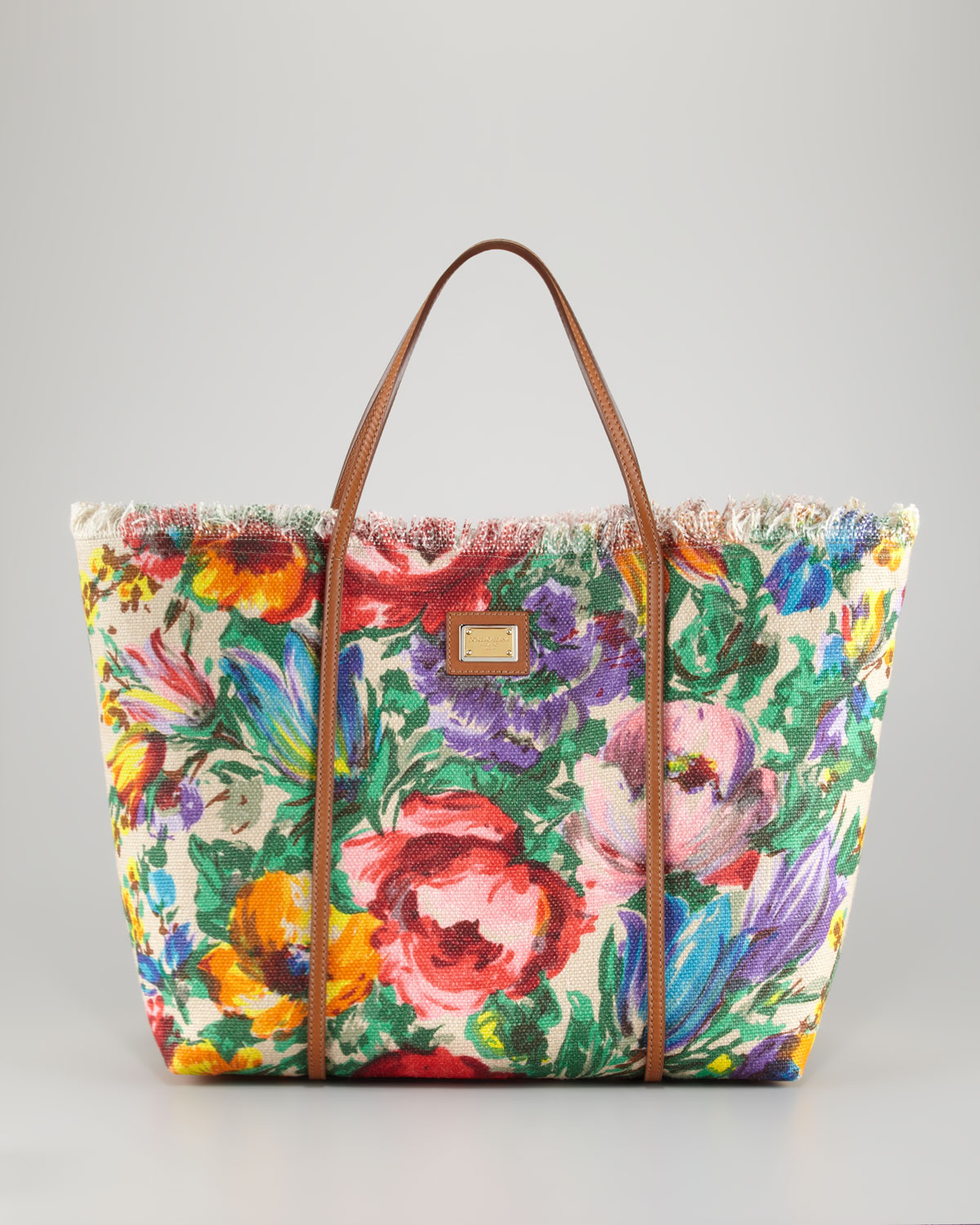 Dolce   Gabbana Miss Escape Floral Canvas Tote Bag - Lyst cba87b81f7533