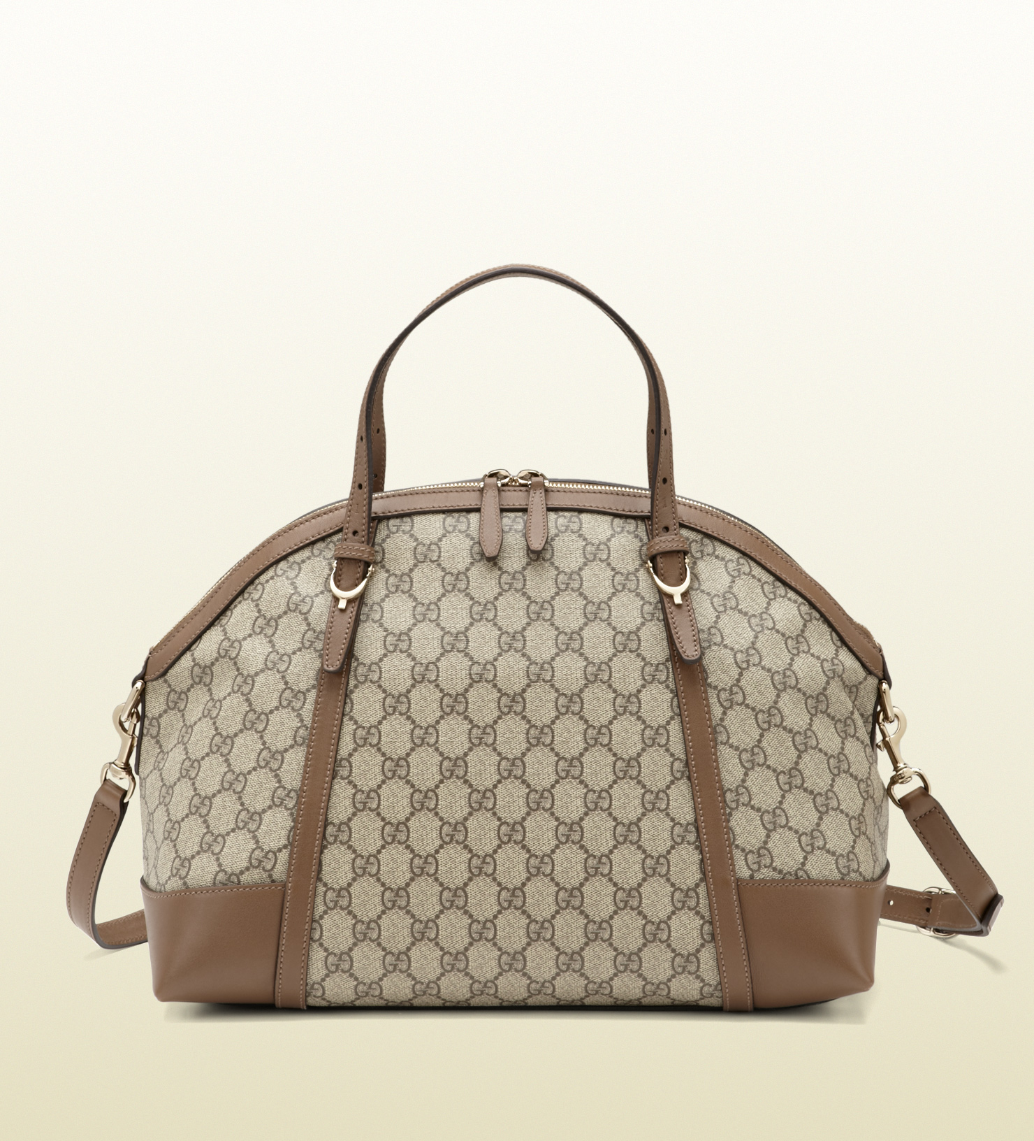 8b817ced553efe Gucci Gucci Nice Gg Supreme Canvas Top Handle Bag in Brown - Lyst
