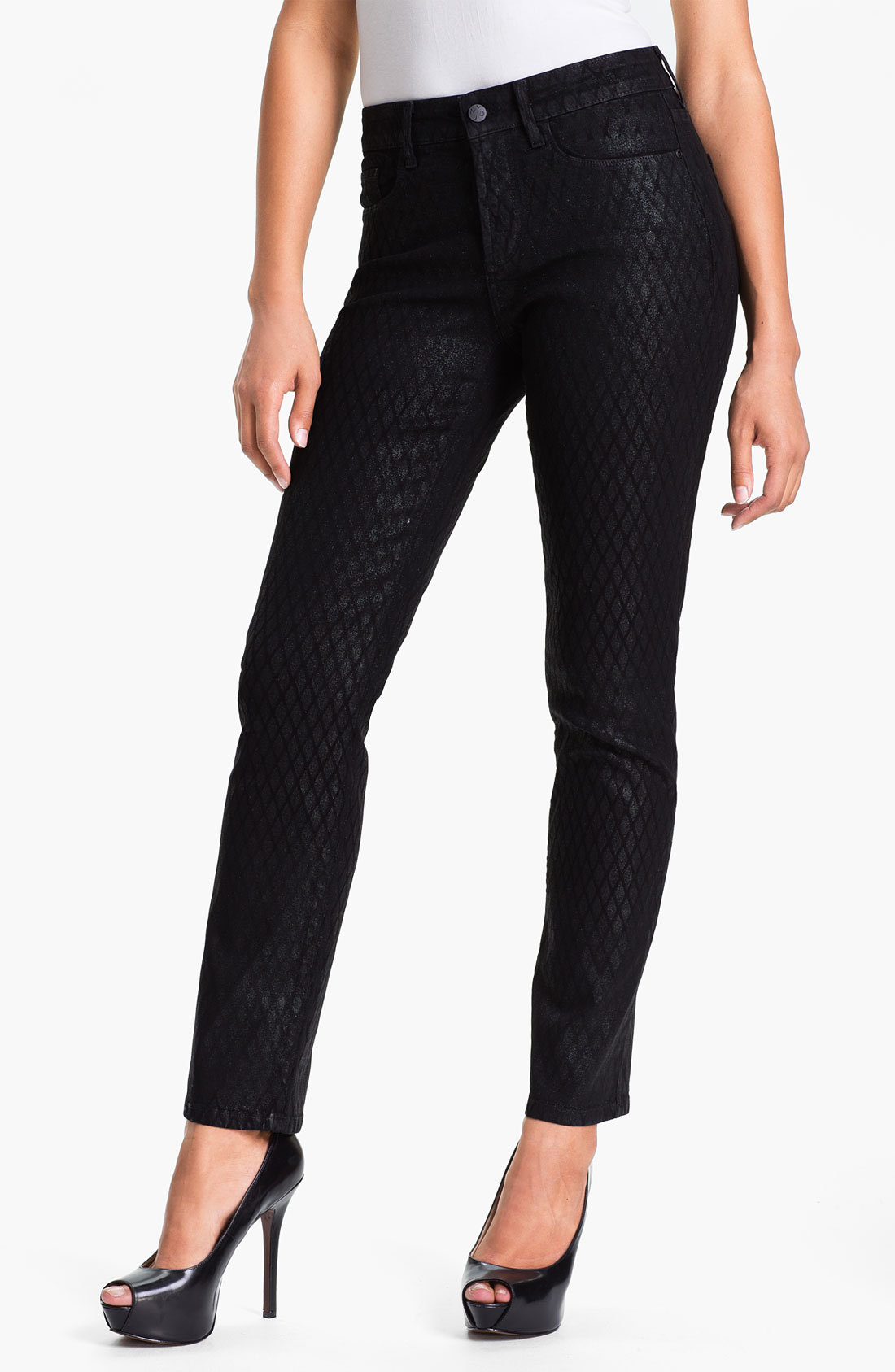 not your daughter 39 s jeans nydj sheri print stretch skinny. Black Bedroom Furniture Sets. Home Design Ideas