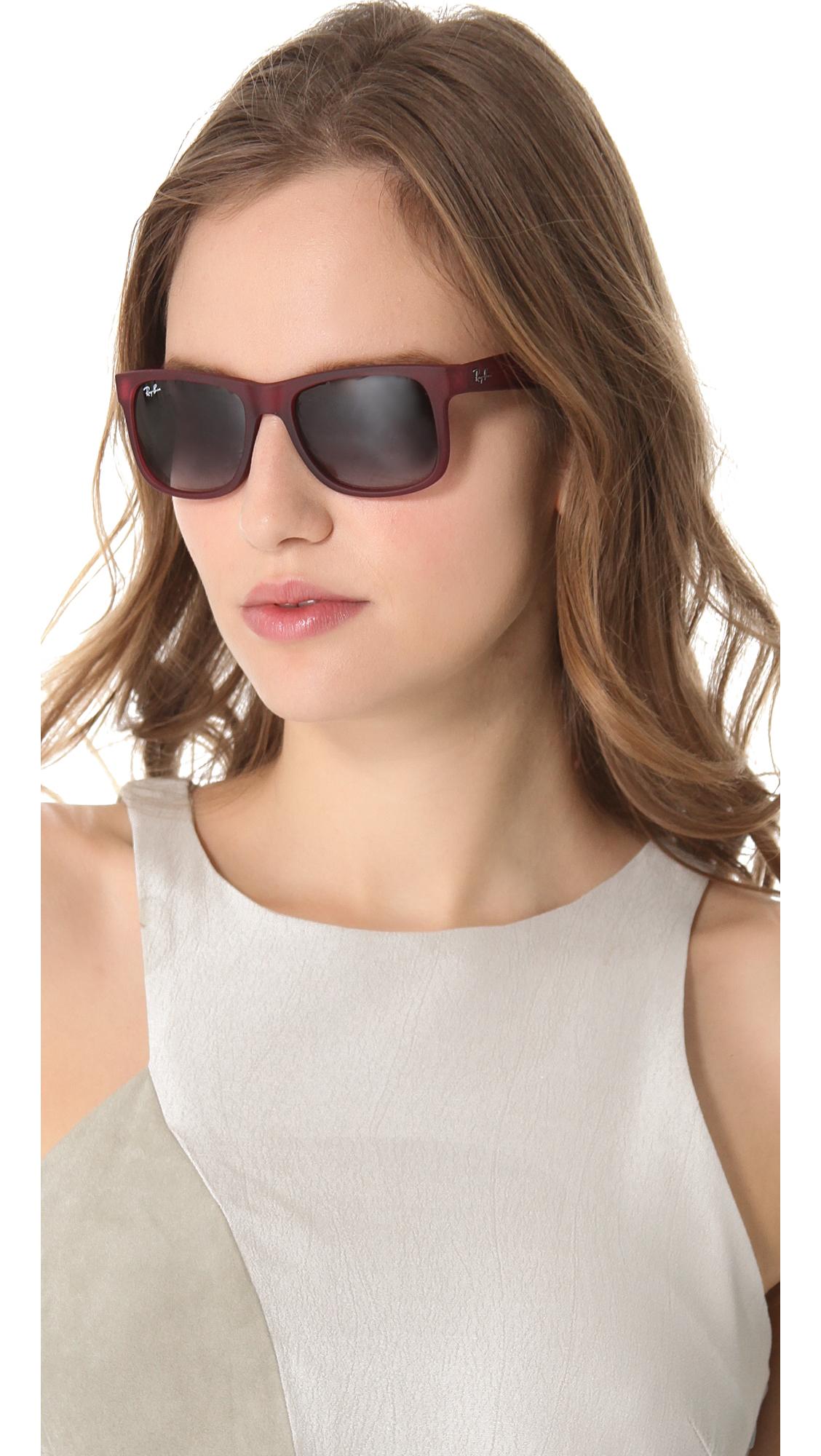 Lyst - Ray-Ban Justin Sunglasses in Purple