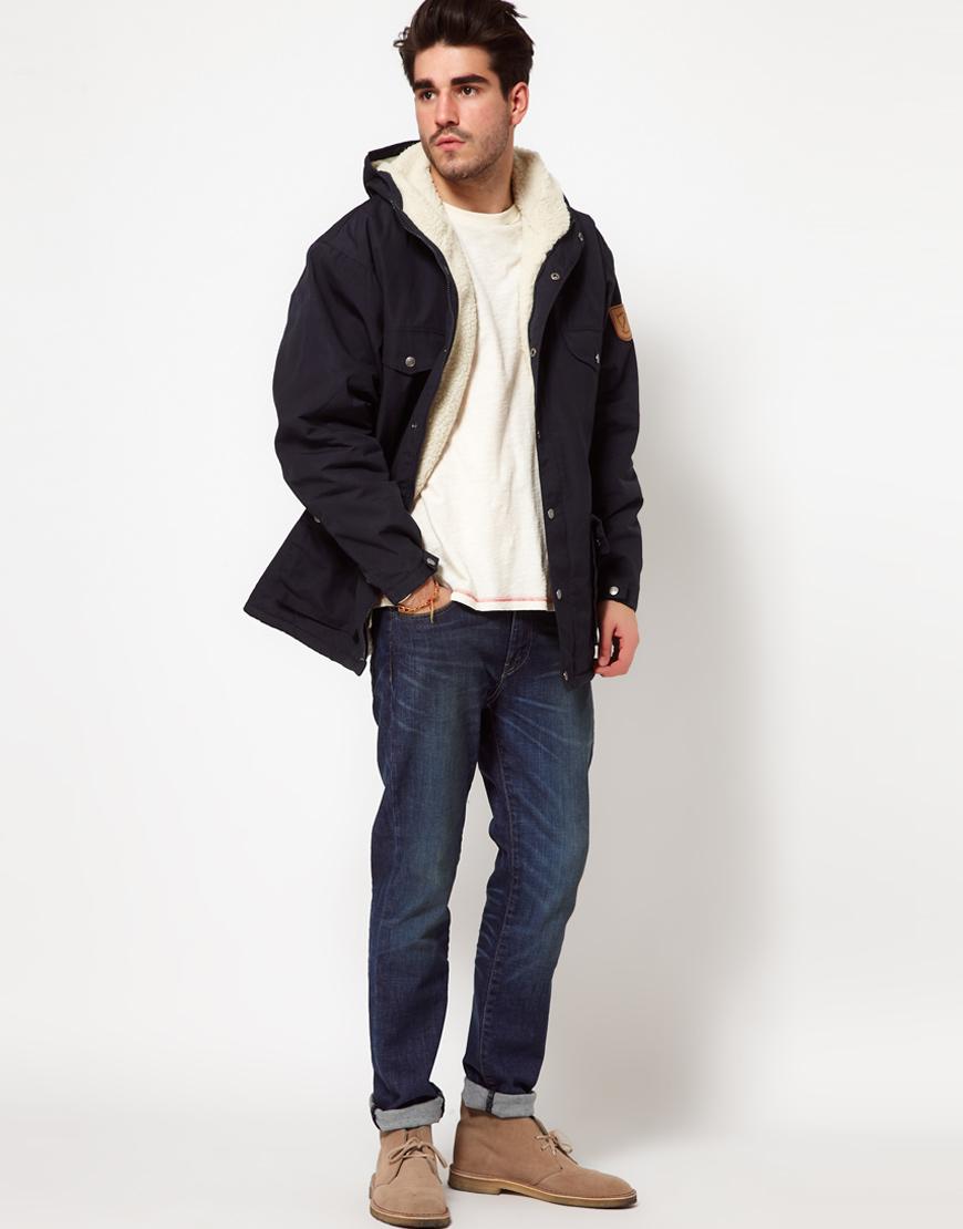 Fjallraven Greenland Winter Jacket In Blue For Men Lyst