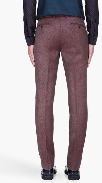 Kenzo Formal Pants In Brown For Men | Lyst