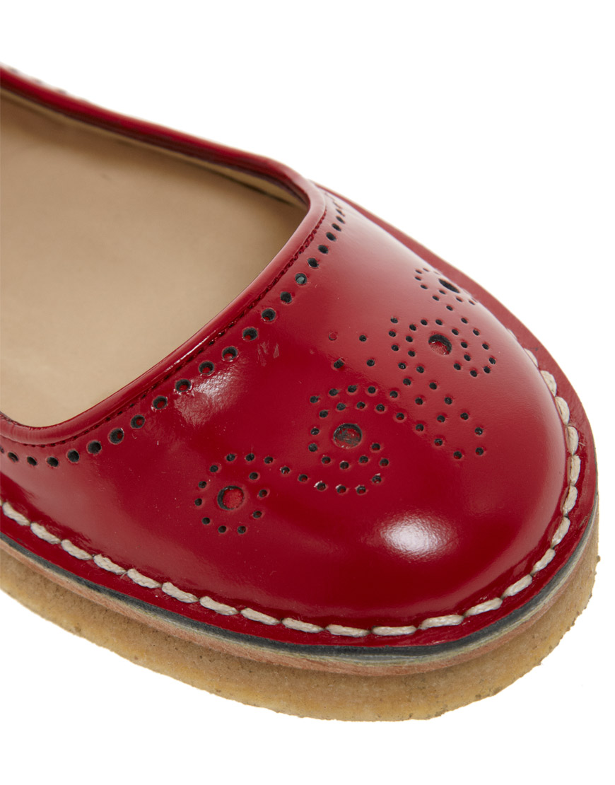 Lyst Ymc Red Mary Jane Flat Shoes In Red