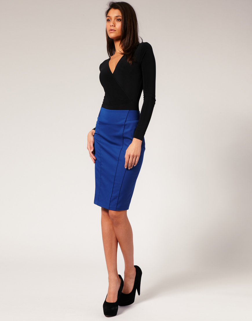 Asos collection Asos Tailored High Waist Seamed Pencil Skirt in ...