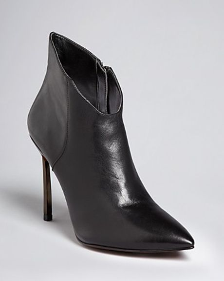 Enzo Angiolini Pointed Toe Dress Booties Imbra High Heel in Brown (black)
