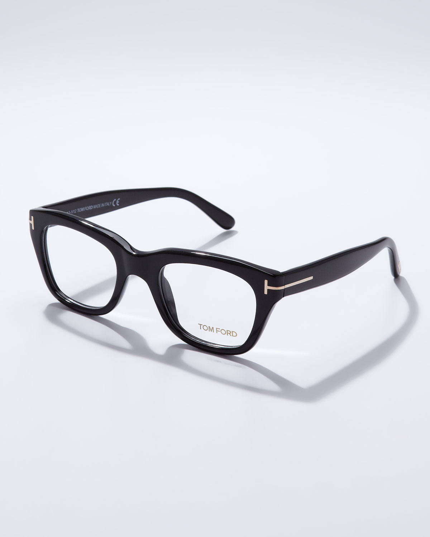 Black Frame Glasses Trend : Tom Ford Large Acetate Frame Fashion Glasses in Black for ...