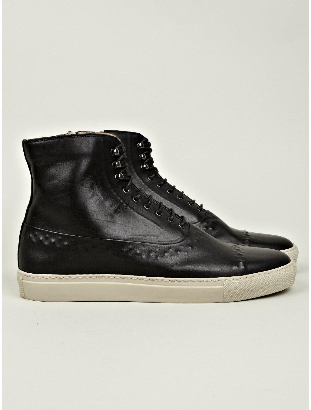 alexander mcqueen vacuum detail high top sneaker in black. Black Bedroom Furniture Sets. Home Design Ideas