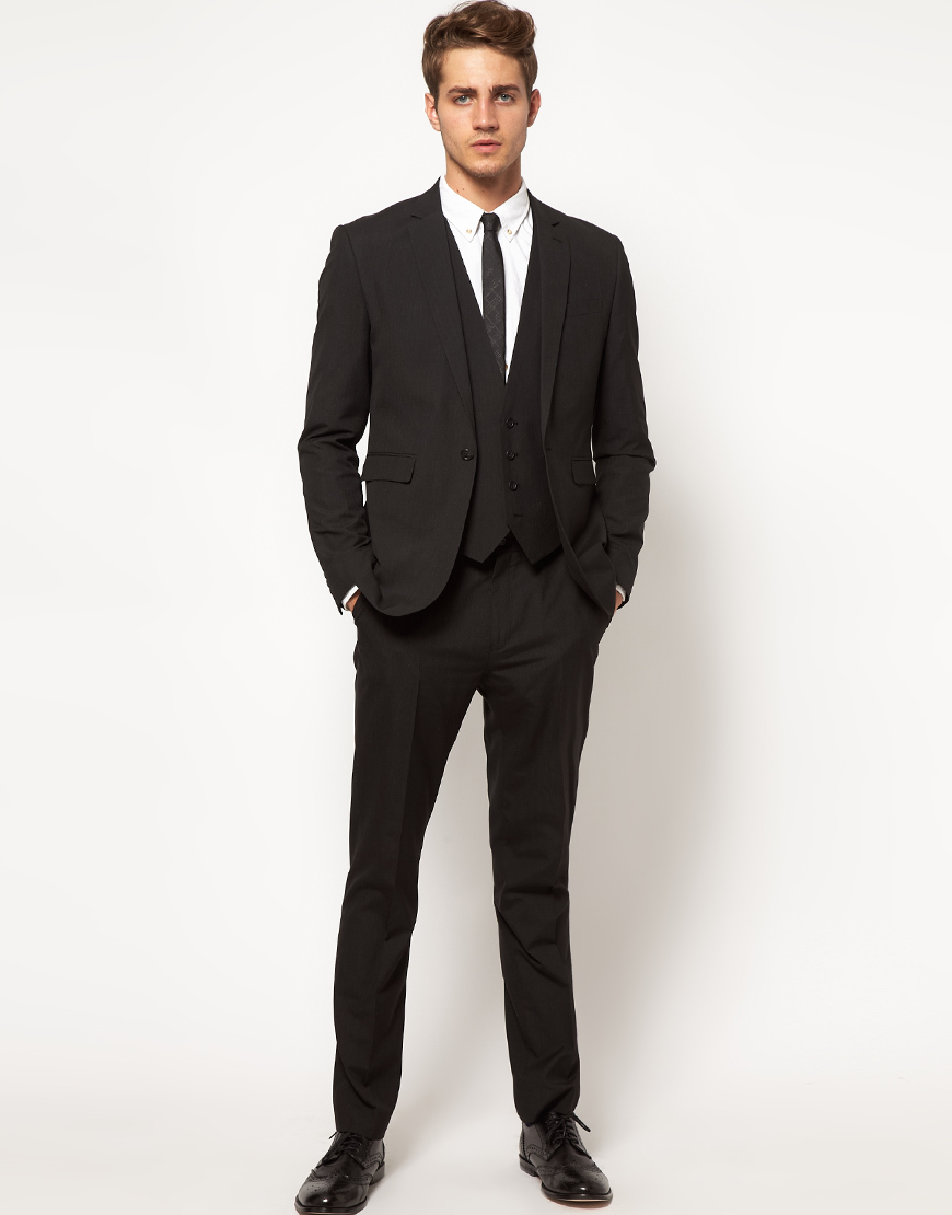 Asos Slim Fit Suit Jacket In Black in Black for Men | Lyst