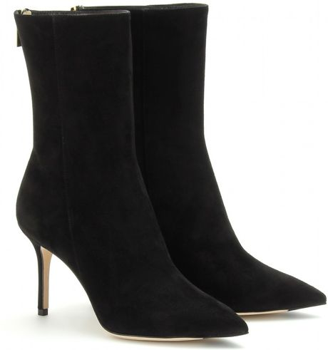 Jimmy Choo Lawson Sue Nubuck Ankle Boots in Black