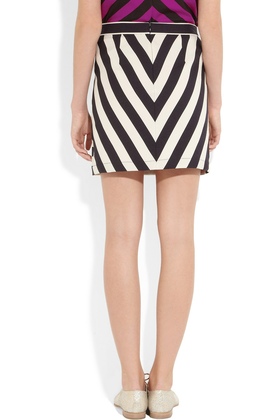 marc by marc scooter striped satintwill skirt in
