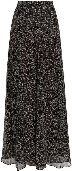 10 Crosby by Derek Lam Silk Polka Dot Maxi Skirt - Lyst