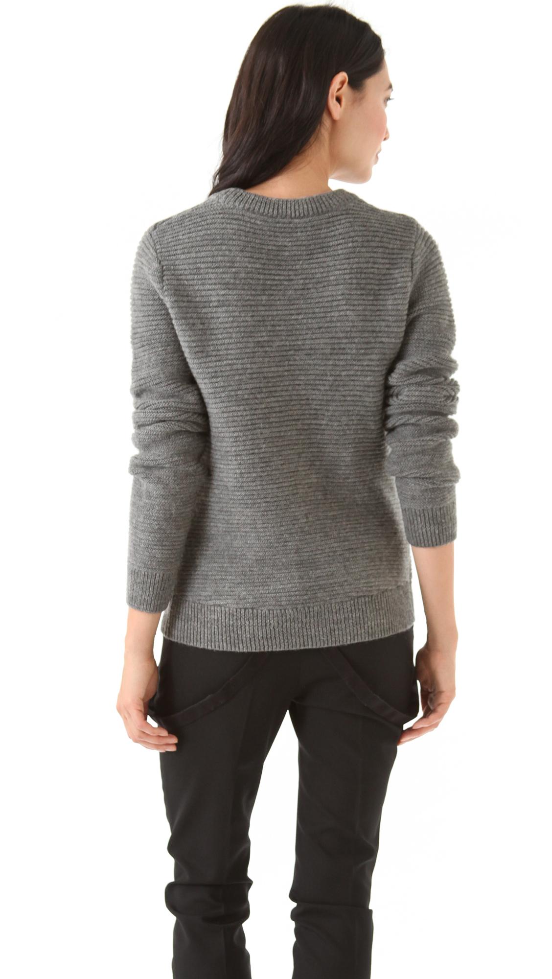 Lyst - A.L.C. Van Sweater in Gray