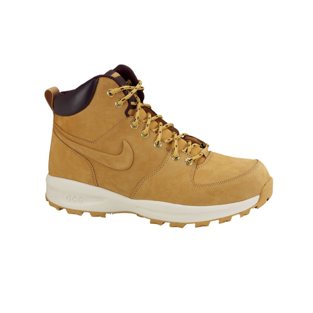 nike manoa leather sneaker boots in brown for lyst