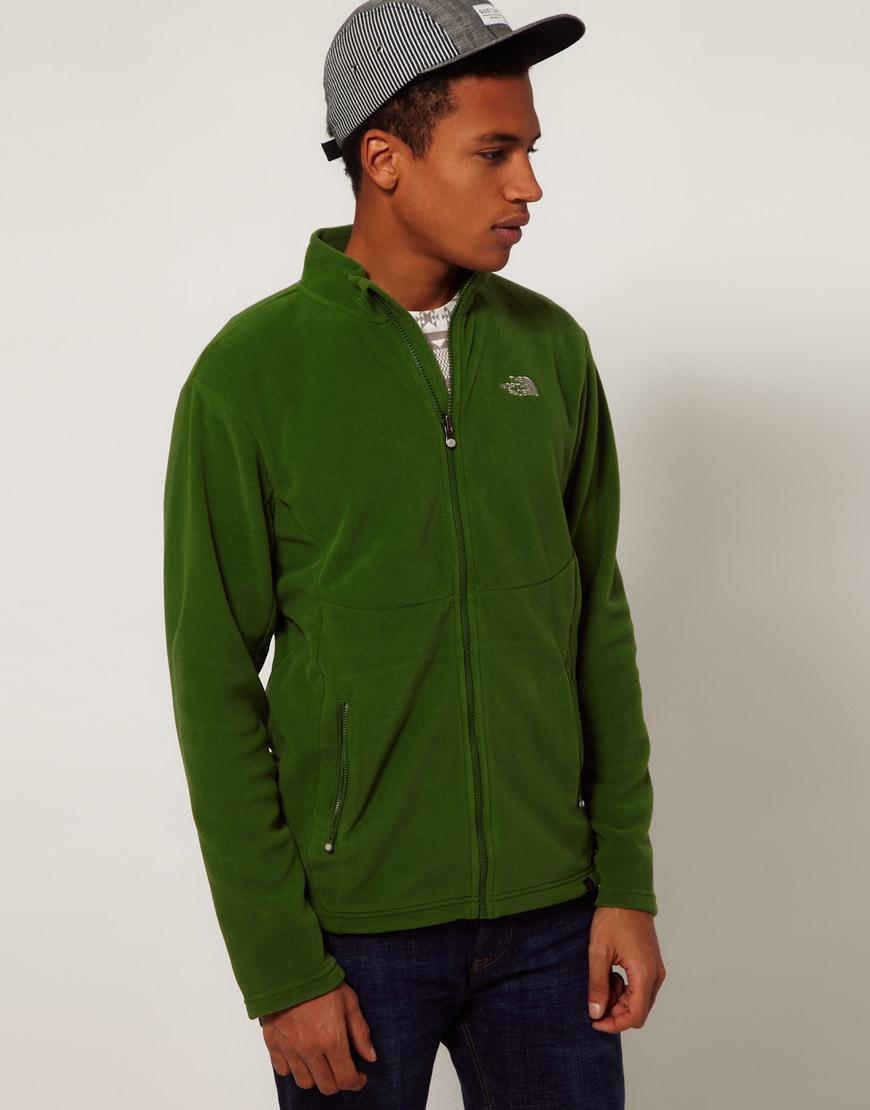 The north face 100 Glacier Full Zip Fleece Jacket in Green for Men ...