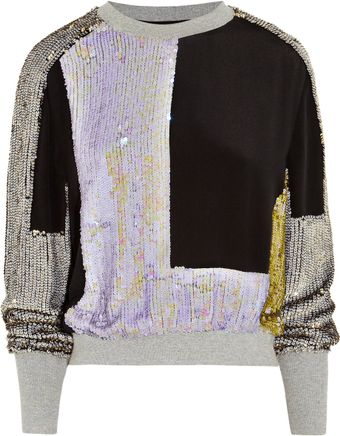 Sequined Silk Sweatshirt