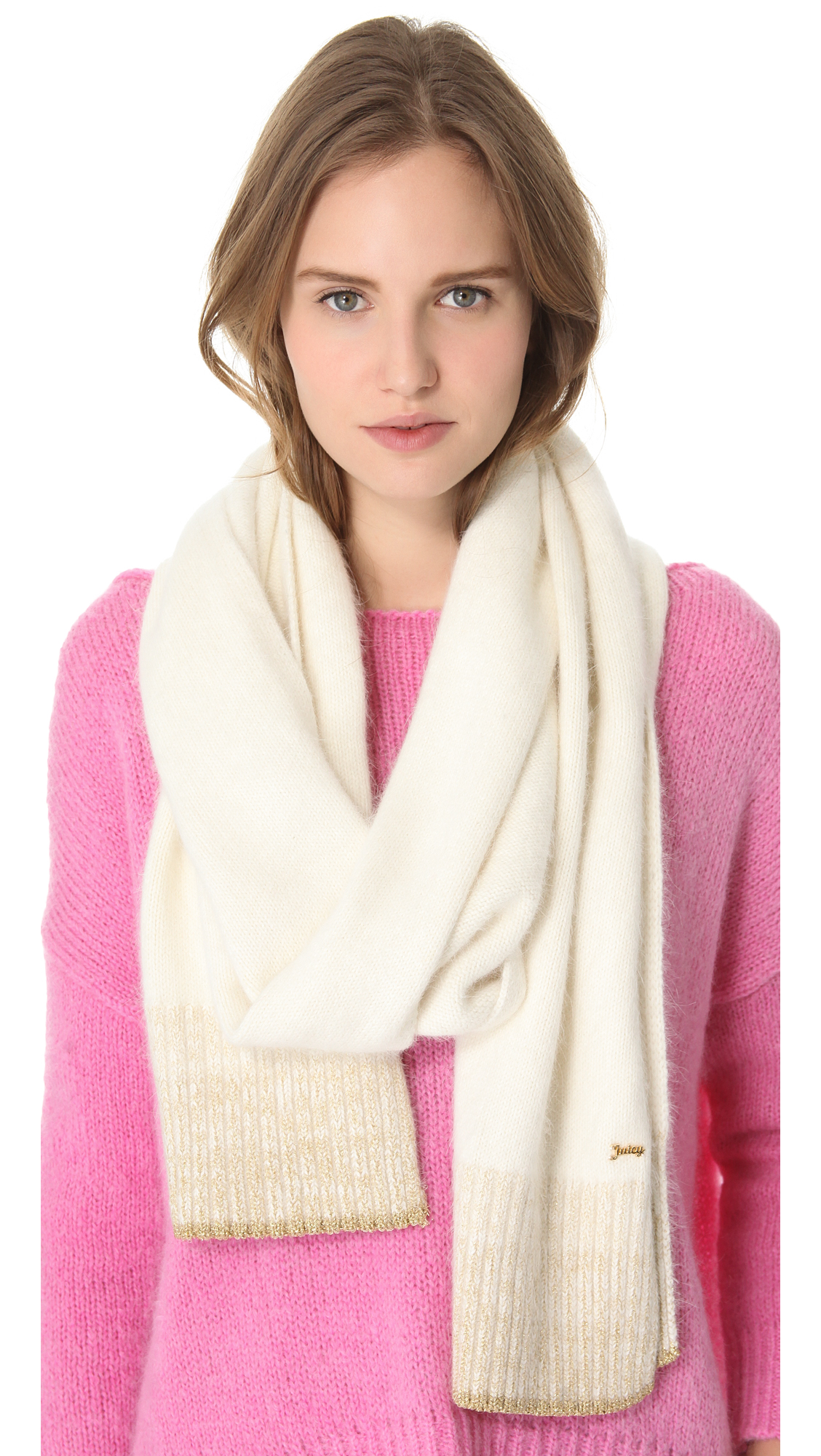 Juicy Couture Angora Scarf in White   Lyst