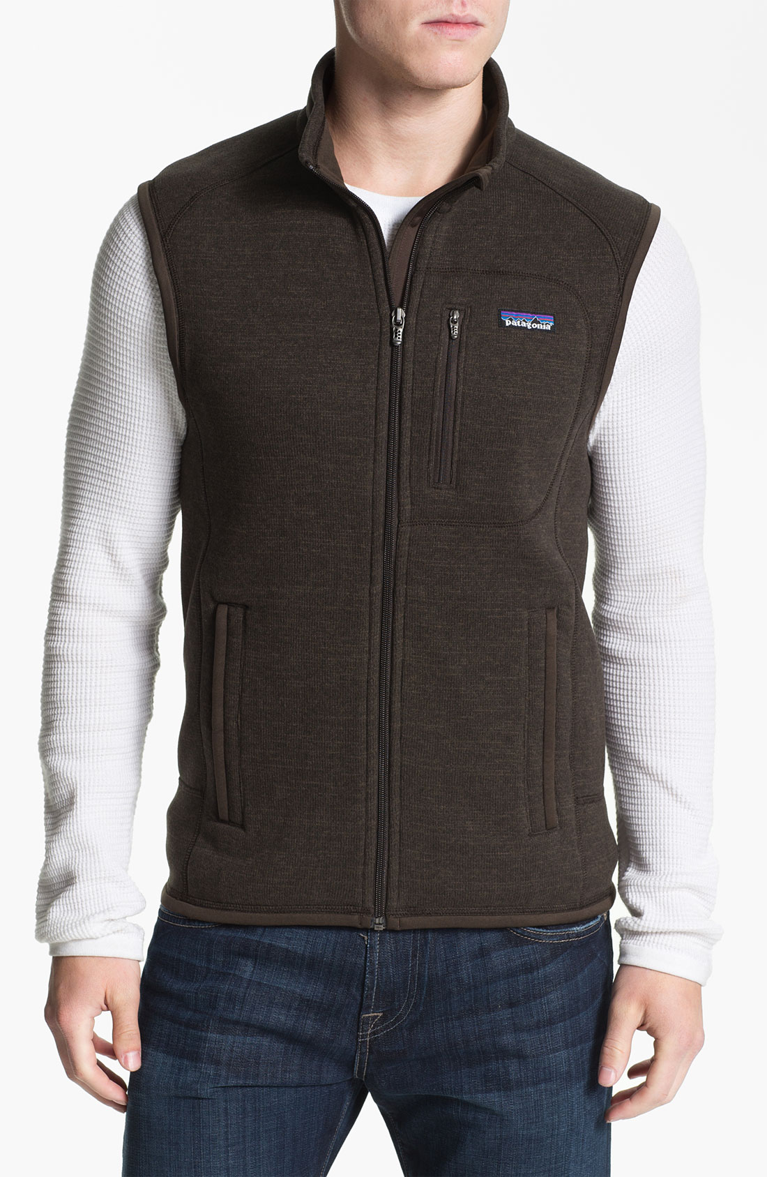 Patagonia Better Sweater Vest in Brown for Men | Lyst