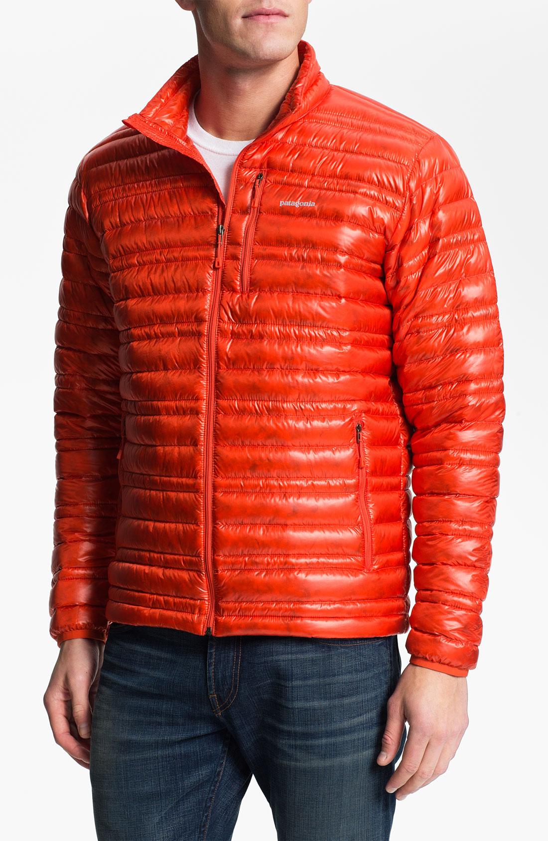 Patagonia Ultra Light Down Jacket In Orange For Men