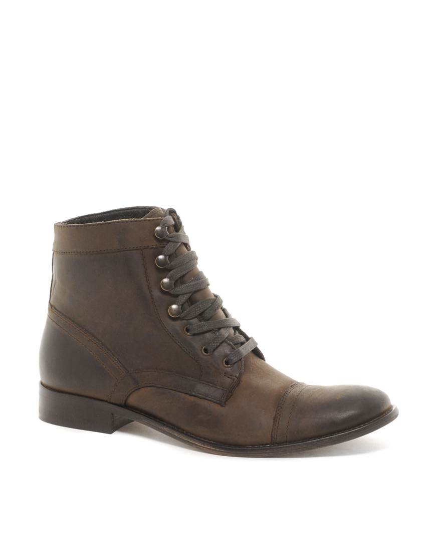 aldo klepac leather boots in brown for lyst