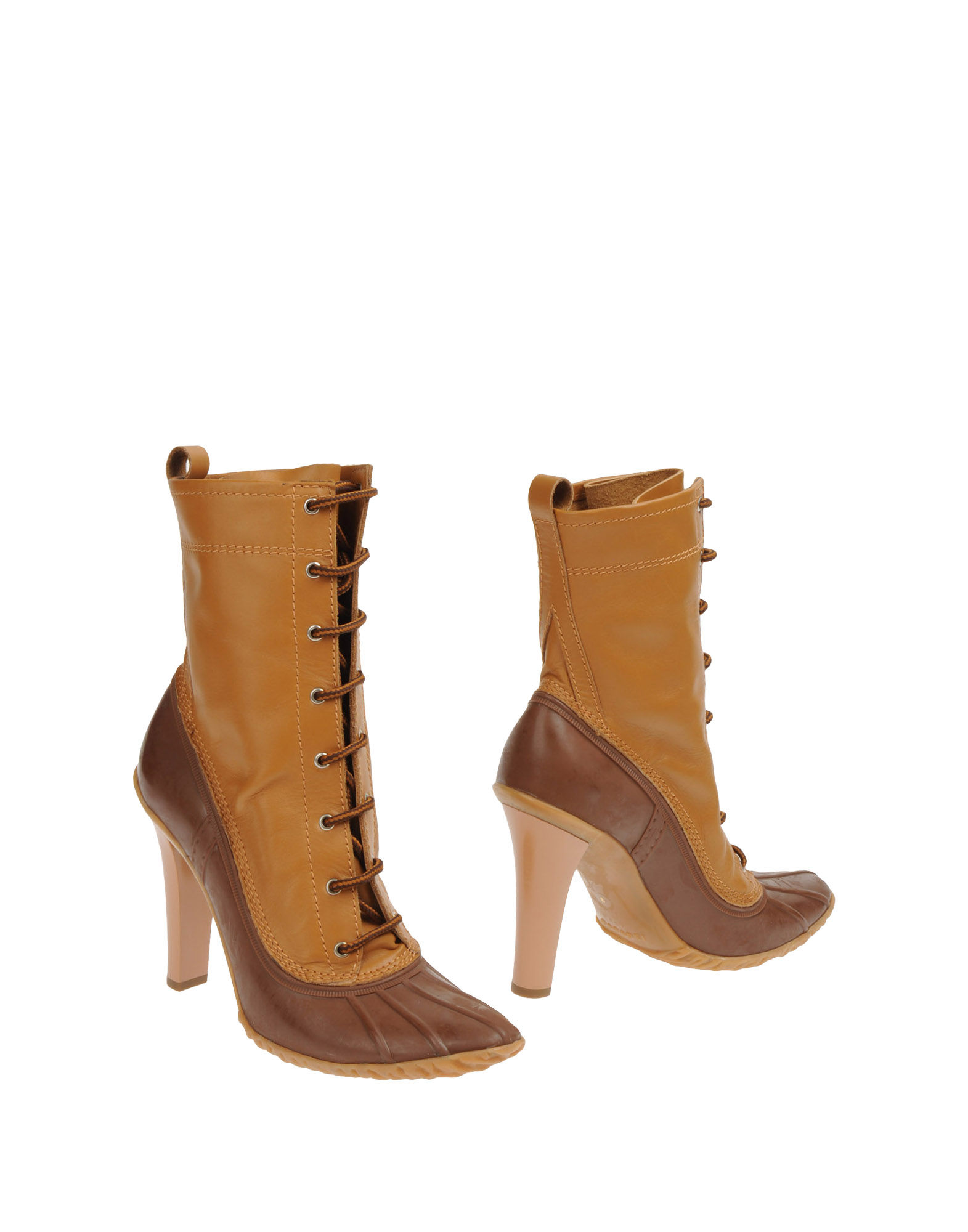 casadei ankle boots in brown camel lyst. Black Bedroom Furniture Sets. Home Design Ideas