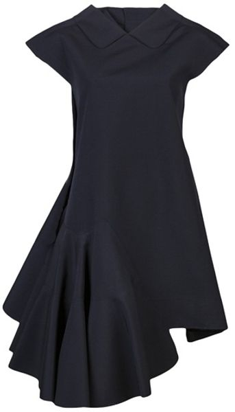 Comme Des Garçons Angle Dress in Black