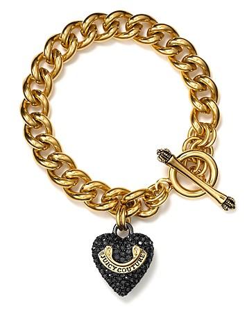 lyst juicy couture pav heart banner starter bracelet in. Black Bedroom Furniture Sets. Home Design Ideas