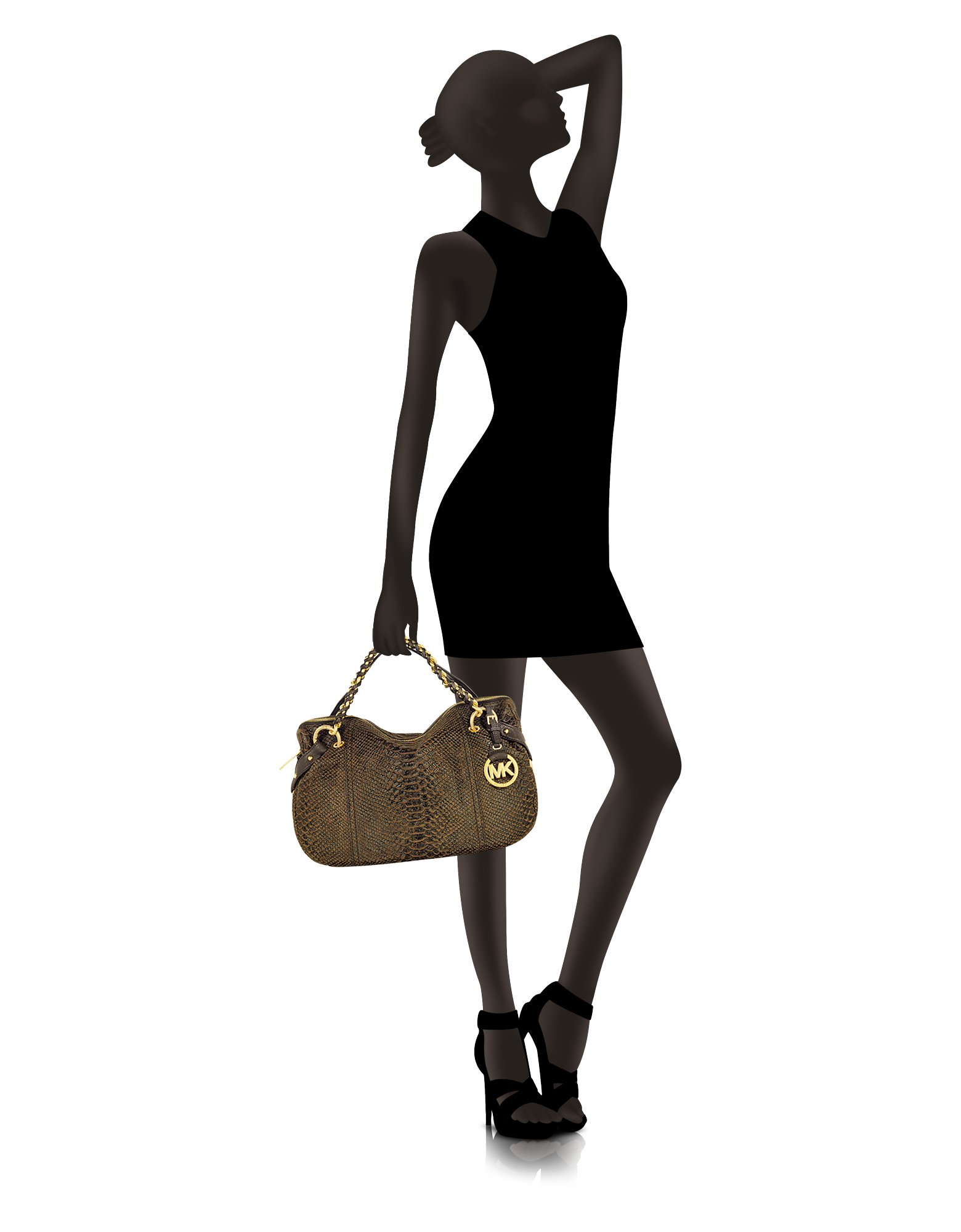 0e4edc434294 ... shop michael kors medium tristan pythonembossed satchel in brown lyst  7c99f 327a8